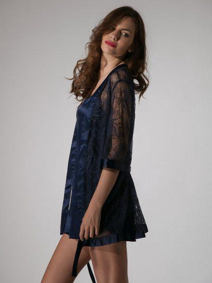 kimono colore blue navy art 80232 Prestige Rose by Luna